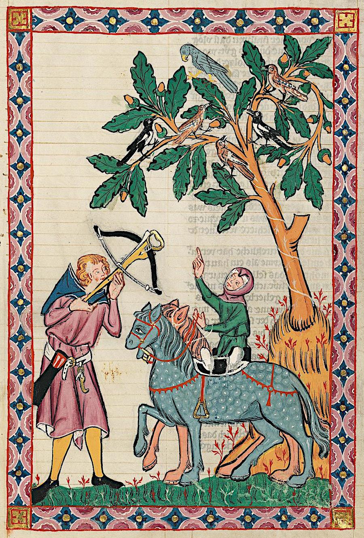 Cod. Pal. germ. 848, Bl. 396r, Codex Manesse, 1305 - 1340